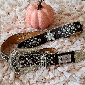 Montana West Bling Western Cowgirl Belt